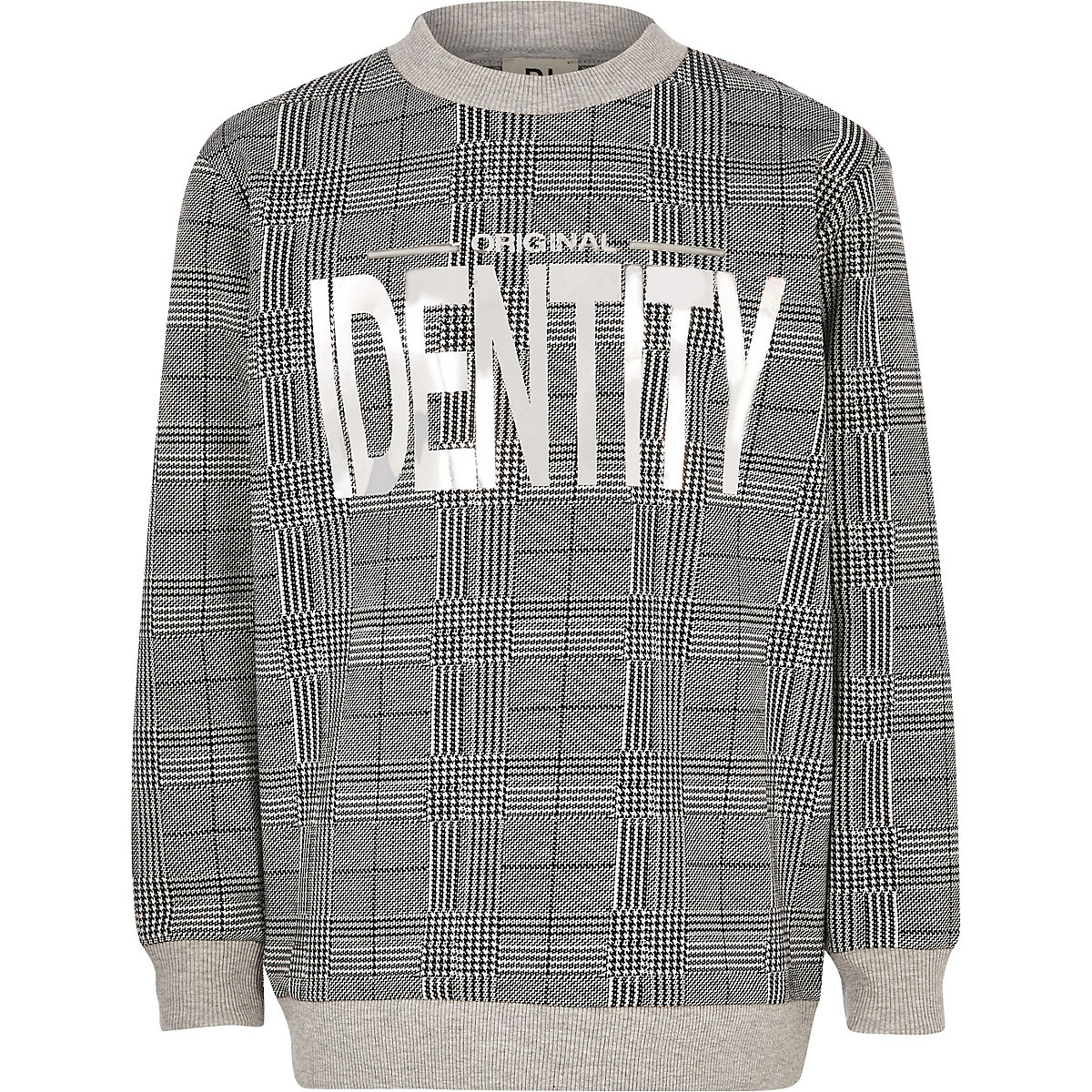 "Be Inclusive – Karierter Pullover ""Identity"""