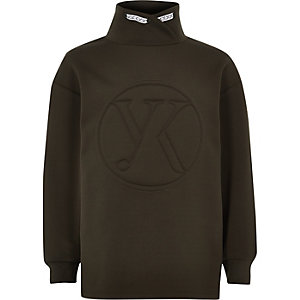 Be Inclusive khaki funnel neck sweater
