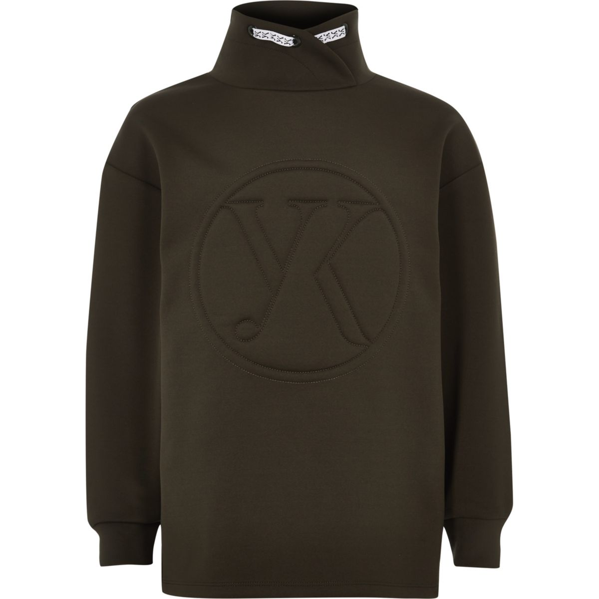Be Inclusive khaki funnel neck sweater