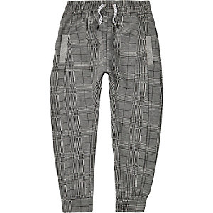 Be Inclusive grey check joggers