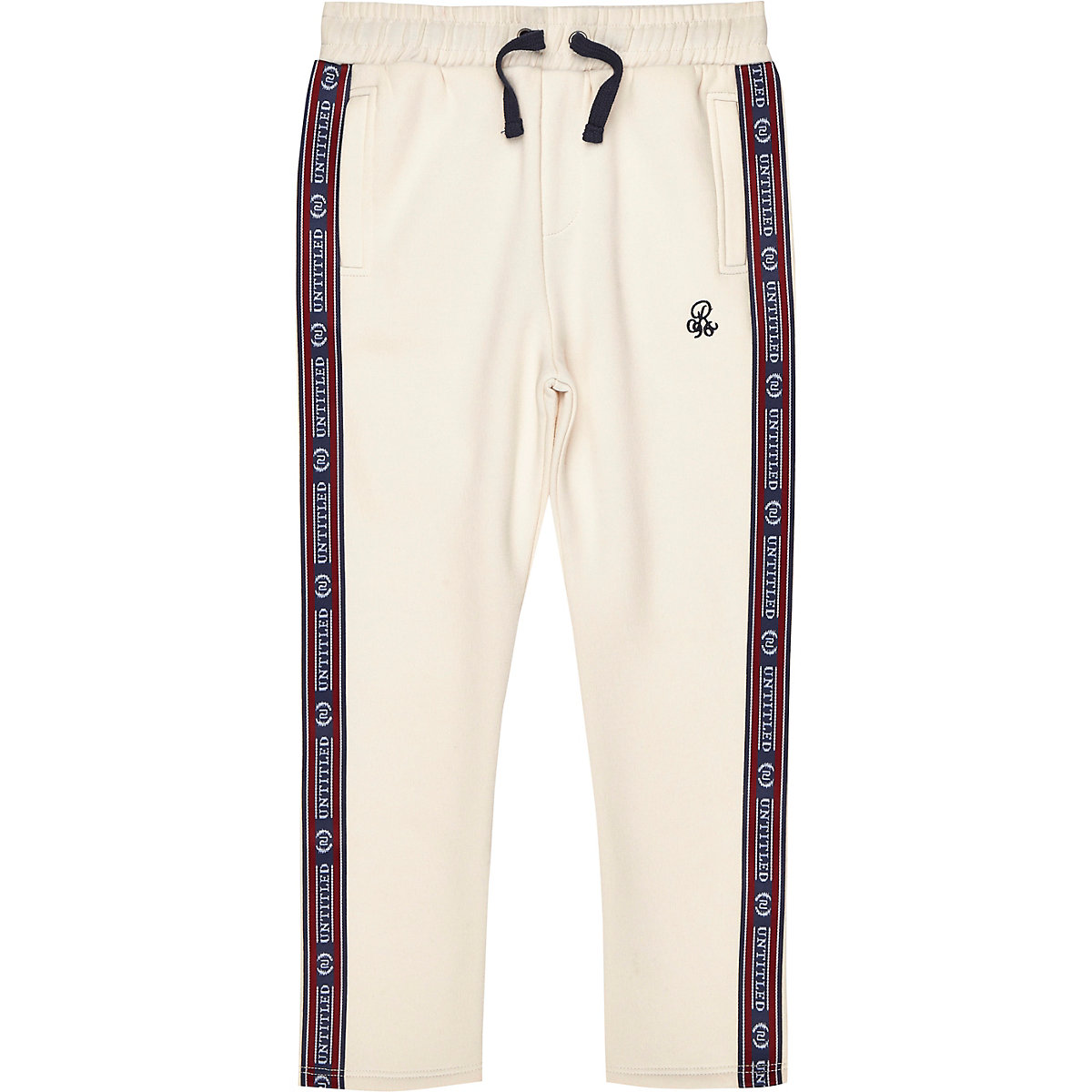 Boys stone 'R96' tape side joggers
