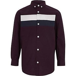 Chemise colour block violette pour garçon