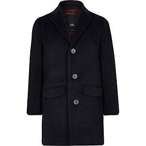 Boys navy smart coat