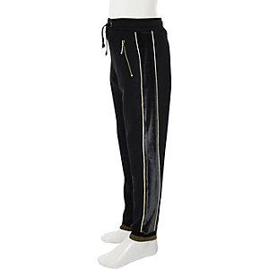 RI 30 – Pantalon de jogging à empiècement bleu marine pour garçon