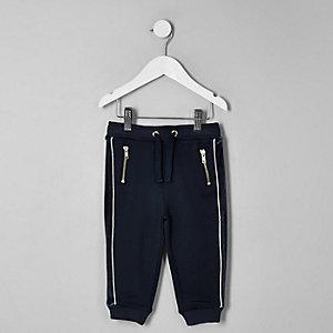Mini - RI 30 - Marineblauwe joggingbroek met paneel voor jongens