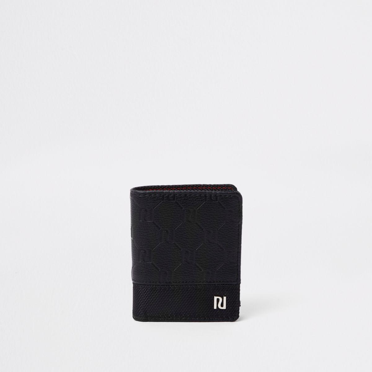 Boys black RI monogram wallet