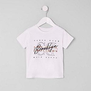 Mini - T-shirt met 'carpe diem'-folieprint voor jongens