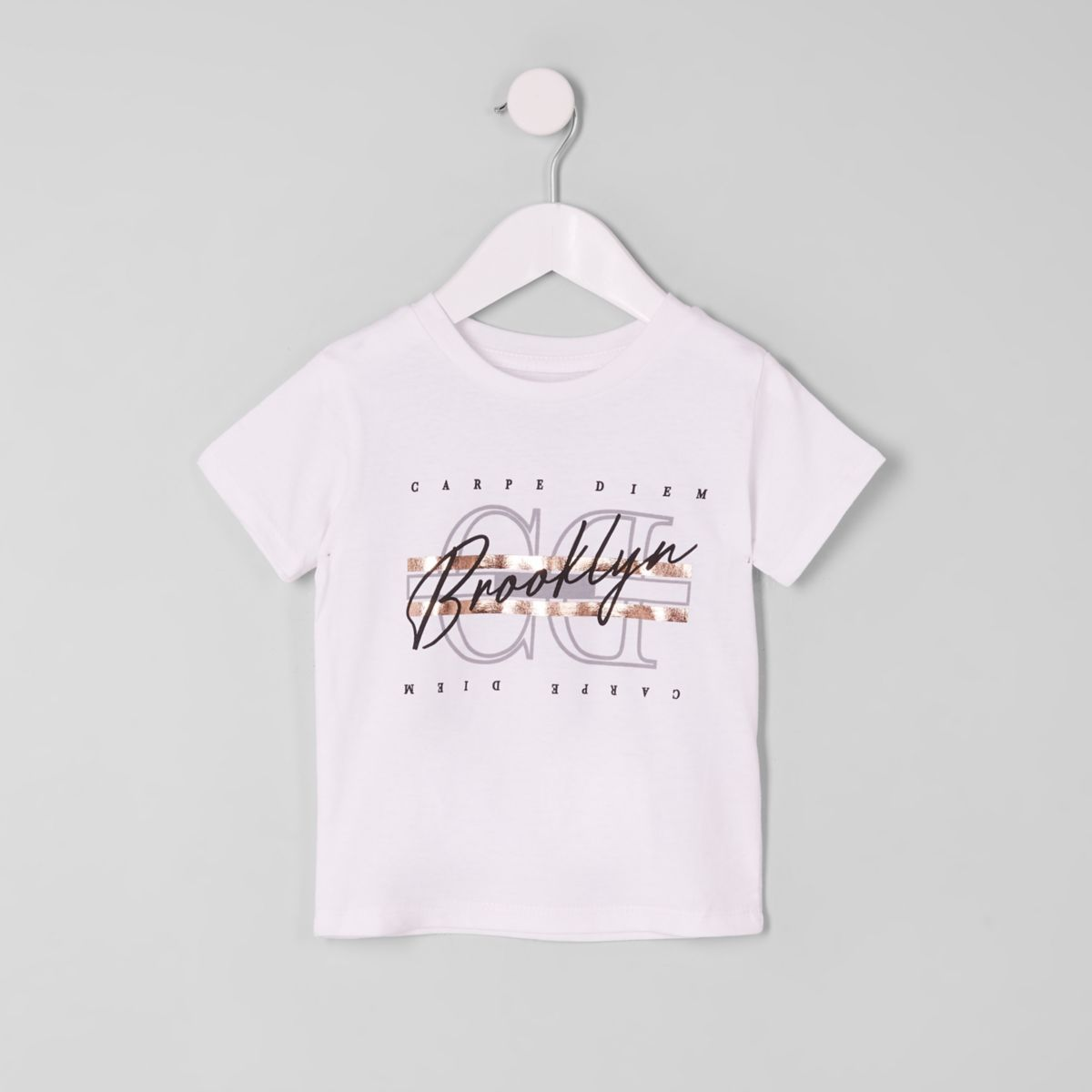 Mini boys 'Carpe Diem' foil T-shirt