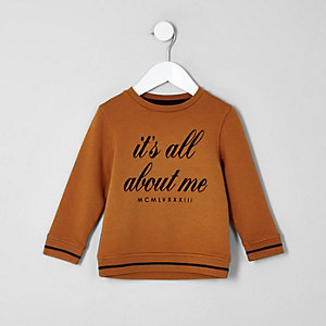 Mini boys 'All about me' sweatshirt