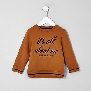 Mini - Sweatshirt met 'All about me'-print voor jongens