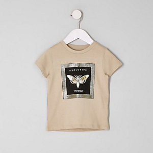 Steingraues T-Shirt mit Print