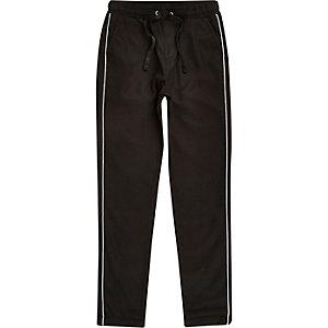 Pantalon habillé noir à bordures pour garçon