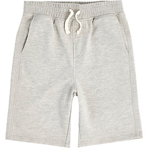 Graue Jersey-Shorts