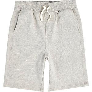 Grijze jersey short voor jongens