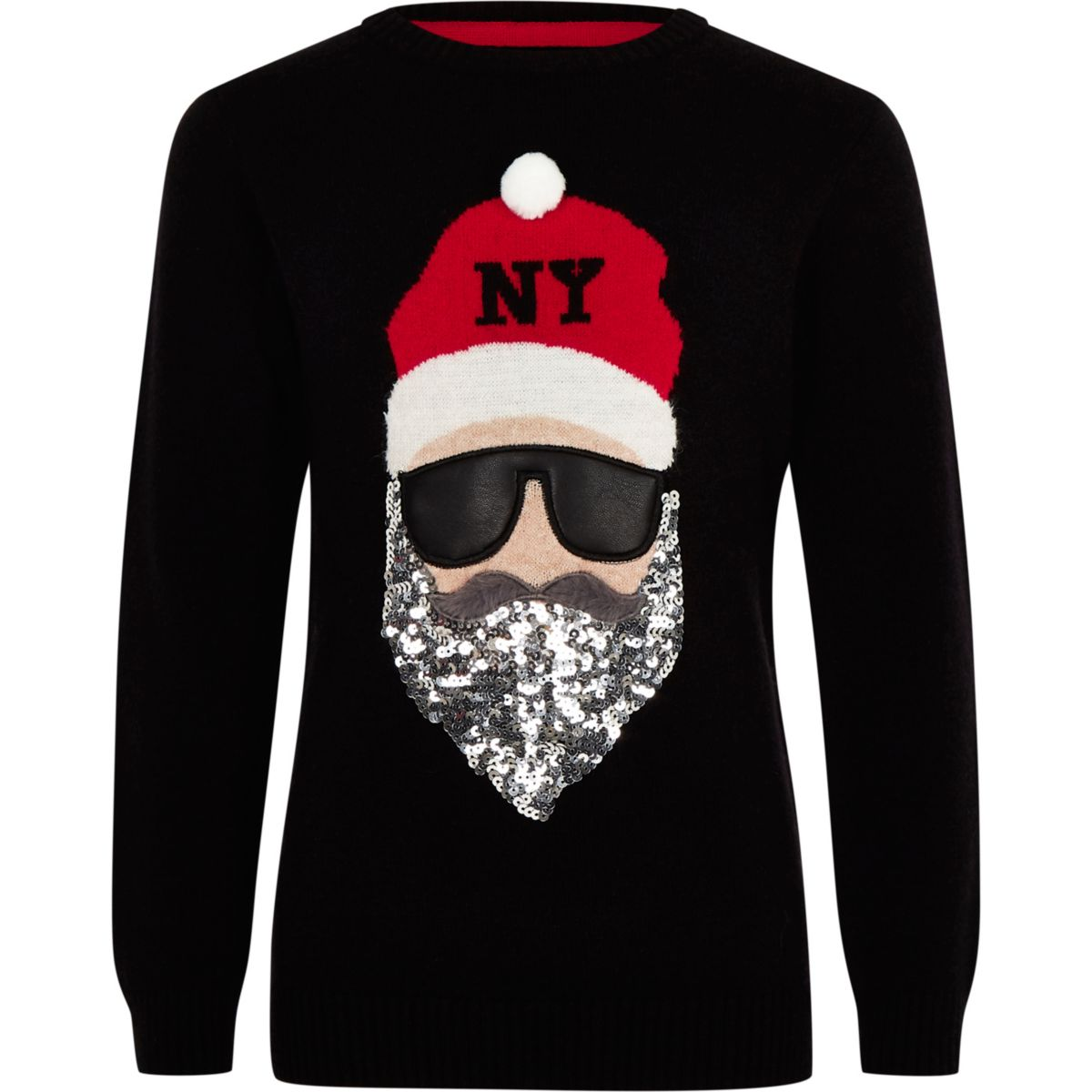 Kids black Santa Claus Christmas sweater