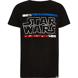 T-shirt Star Wars noir à sequins réversibles