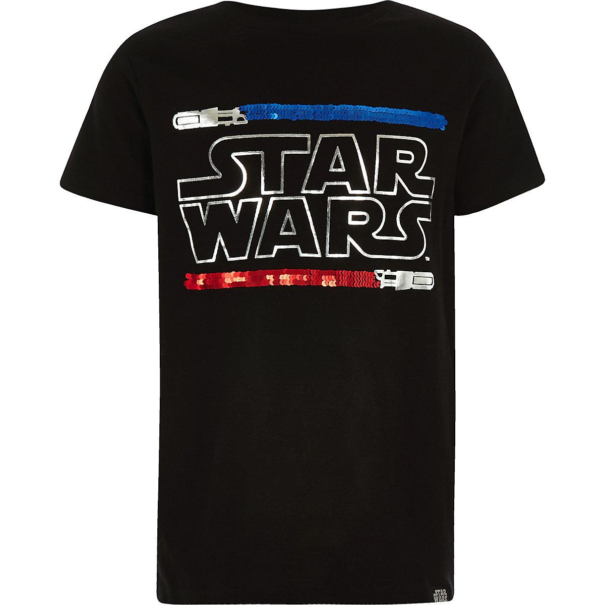 Black Star Wars reverse sequin T-shirt
