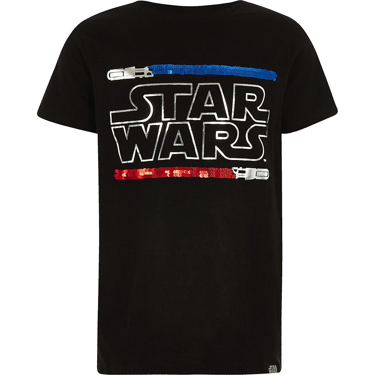 Black Star Wars reverse sequin T-shirt