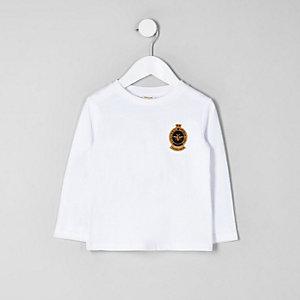 Wit T-shirt met embleem voor mini boys
