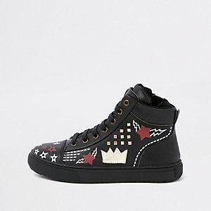 Zwarte hoge sneakers voor kinderen