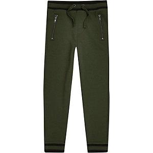 Pantalon de jogging kaki à bordure pour garçon