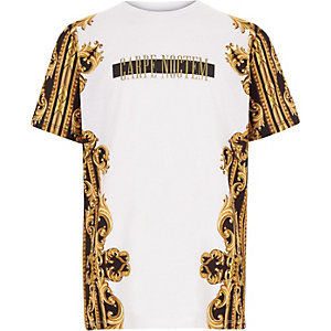 Boys 'carpe noctem' print T-shirt