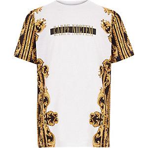 T-shirt met 'carpe noctem'-print voor jongens