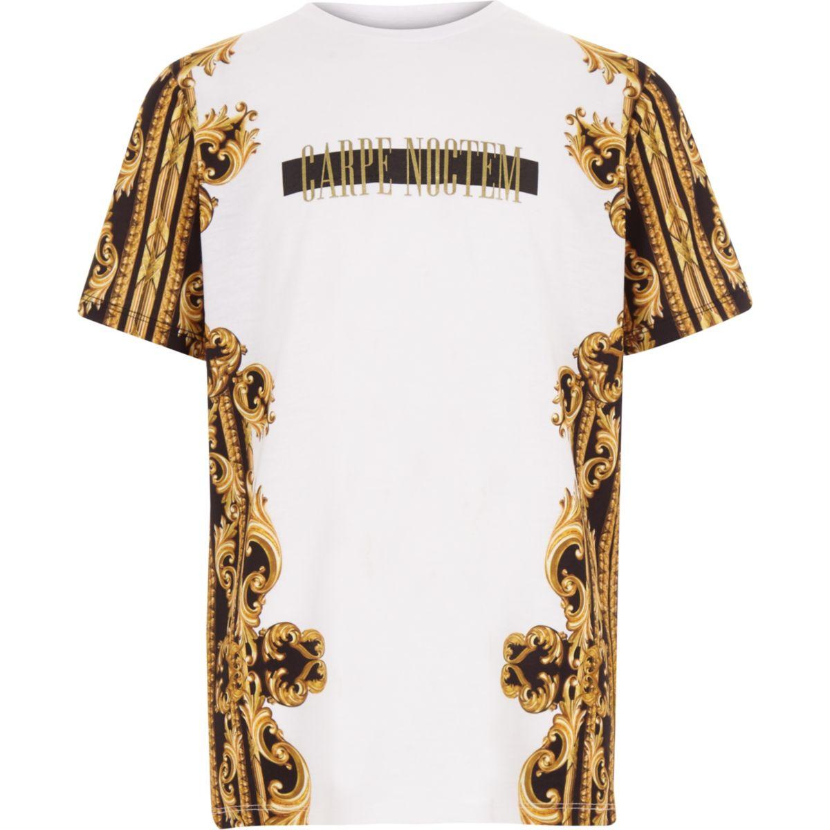 Boys 'carpe noctem' print T-shirt
