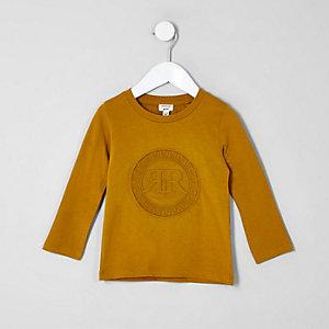 Top jaune avec logo RI en relief mini garçon