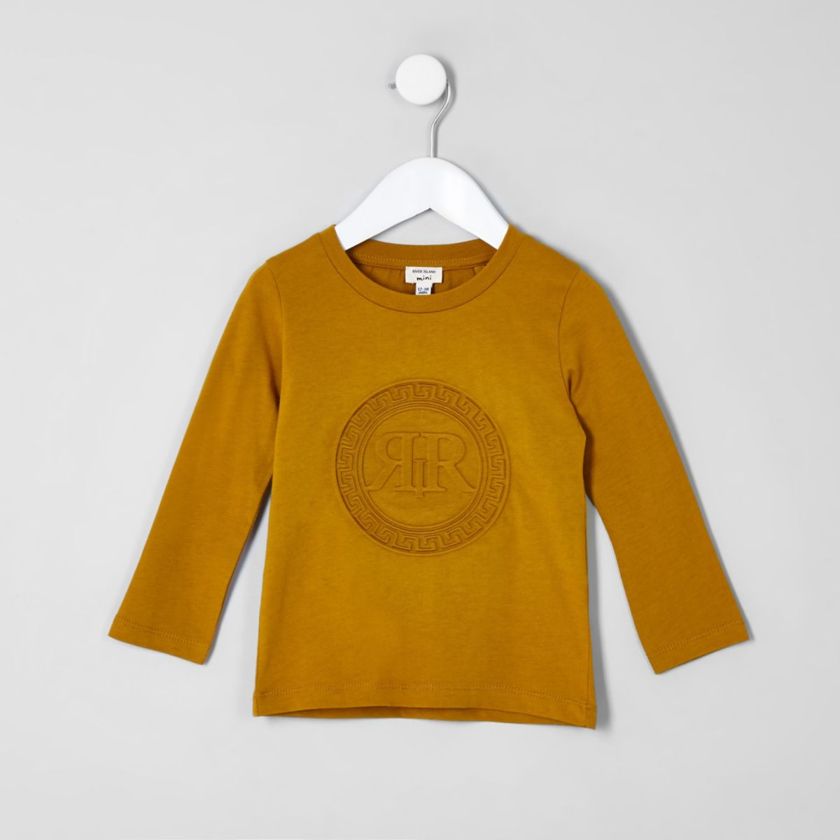 Mini boys yellow embossed RI top
