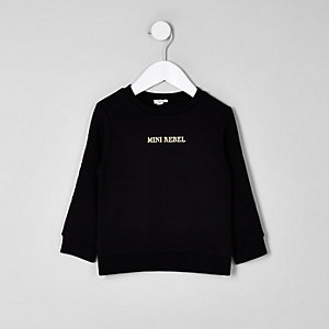 Mini boys black 'rebel' sweatshirt