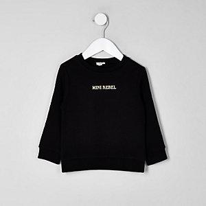 Mini - Zwart sweatshirt met 'rebel'-print