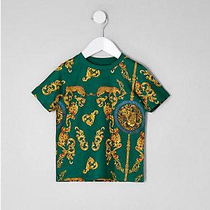 Grünes T-Shirt mit Print