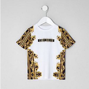 Mini boys 'carpe noctem' print T-shirt
