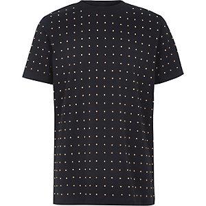 Boys navy studded T-shirt