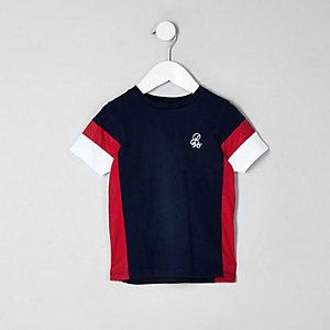 T-shirt à imprimé colour block bleu marine mini garçon