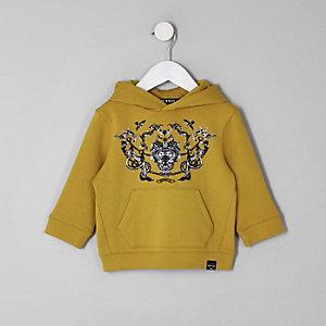 Mini - Gele hoodie met barokprint voor jongens