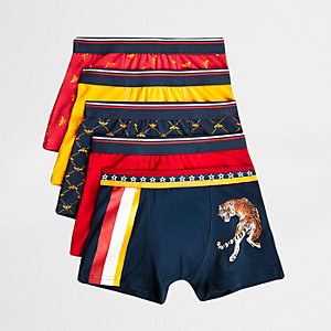 Boys red bee boxers multipack