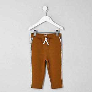 Pantalon de jogging orange à bandes latérales mini garçon