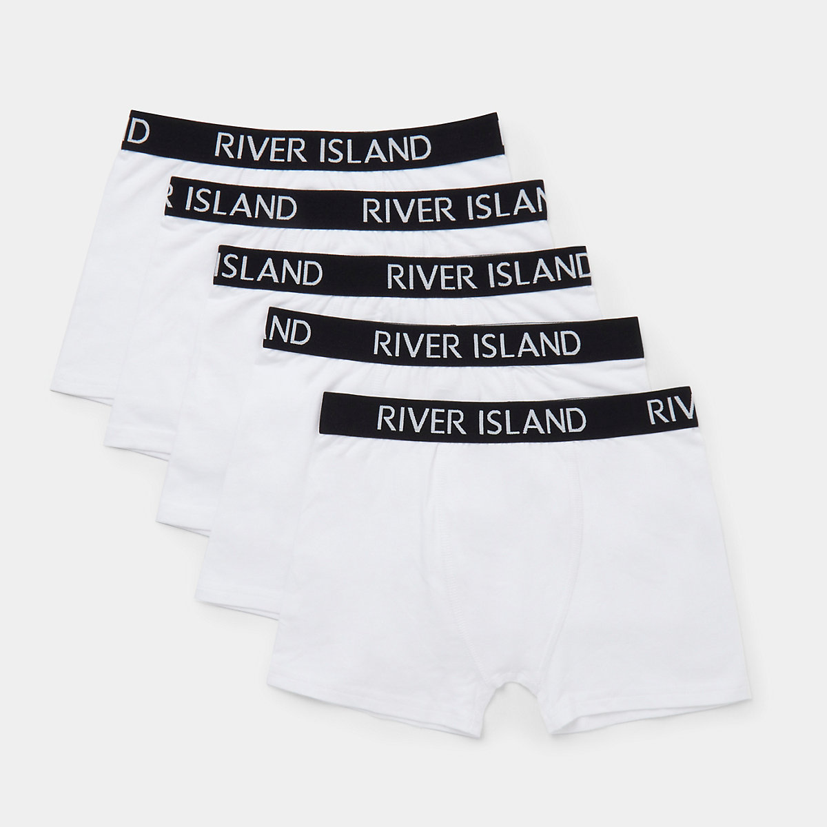 Boys white colour RI boxers multipack