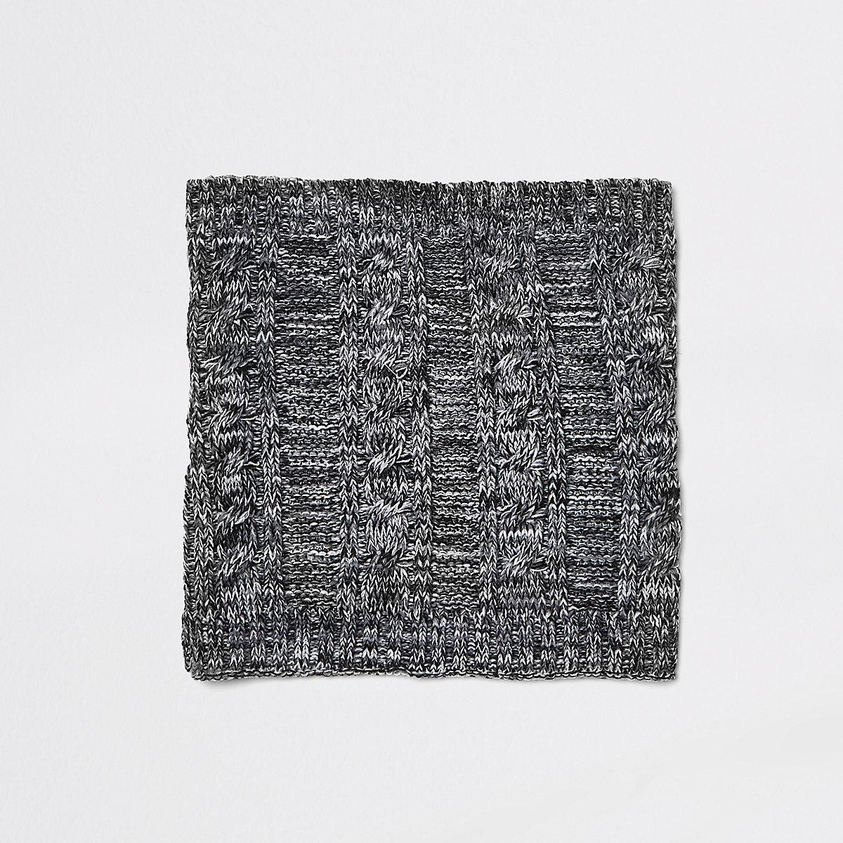 Ensemble écharpe-tube et bonnet en fausse fourrure gris pour garçon ... 61333daf0e3