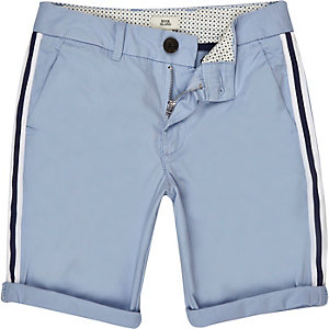 Boys blue tape chino shorts