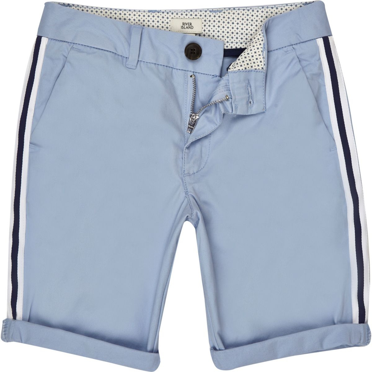 Boys blue tape chino shorts