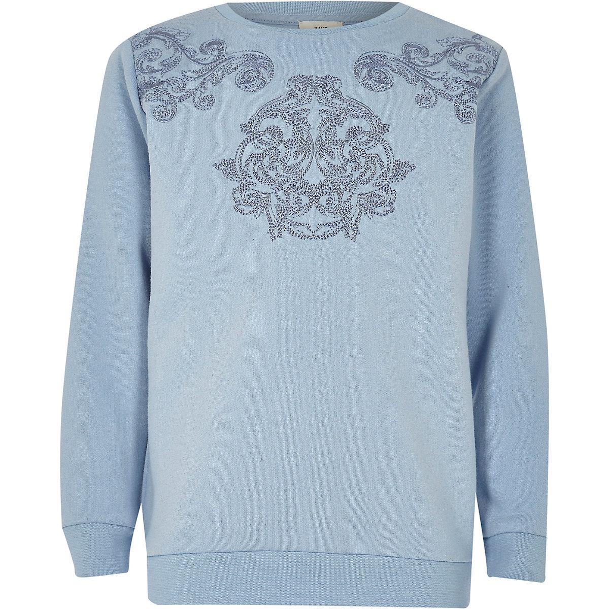 Boys blue embroidered sweatshirt