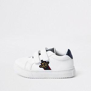 Tennis blanches avec motif abeille pour mini garçon