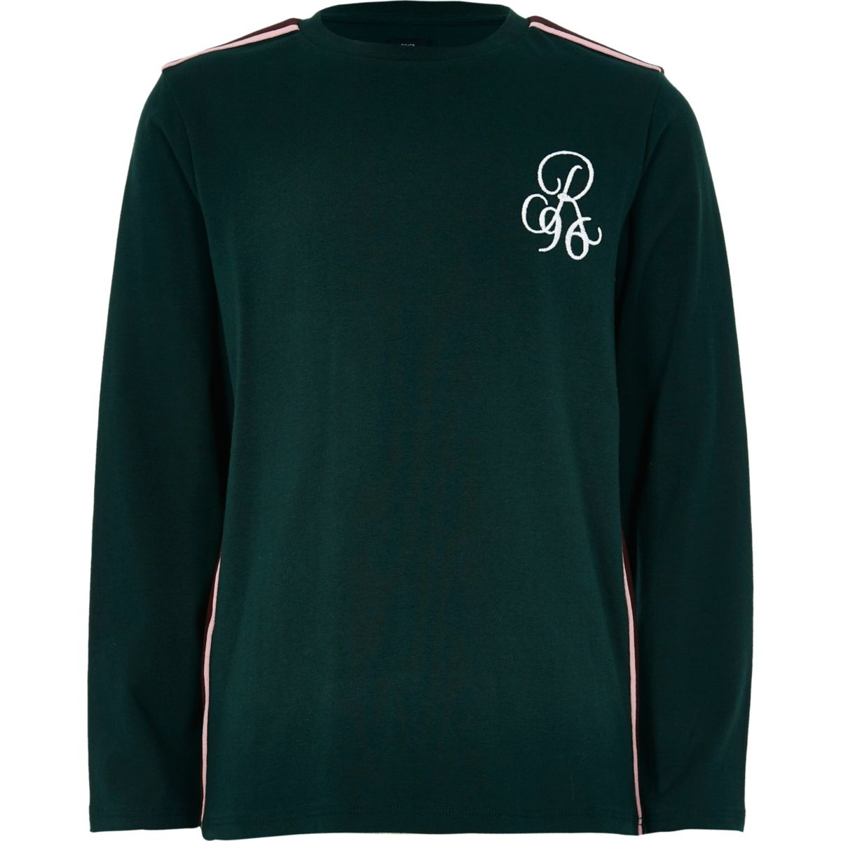 Boys green tape long sleeve T-shirt