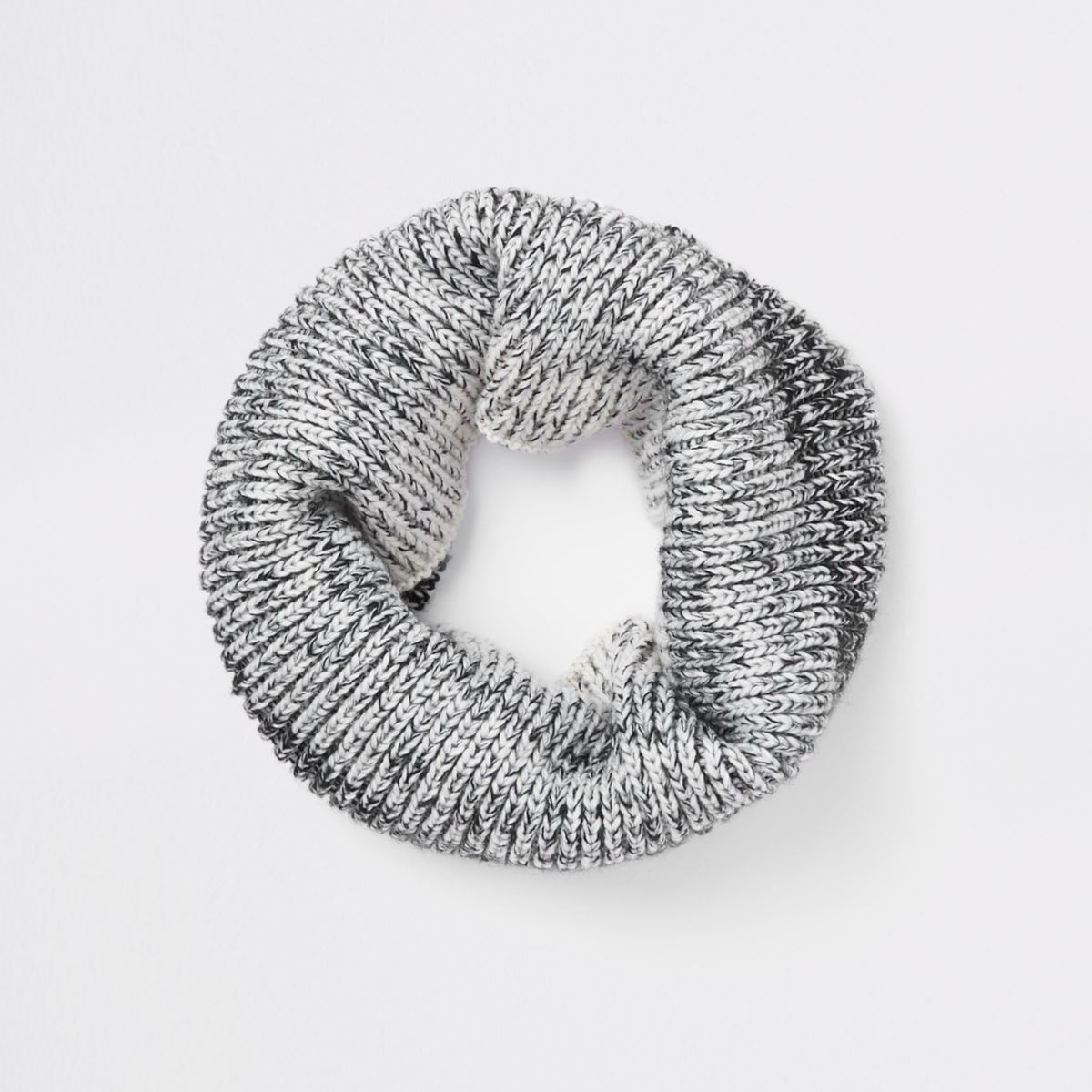 Boys grey ombre knit scarf
