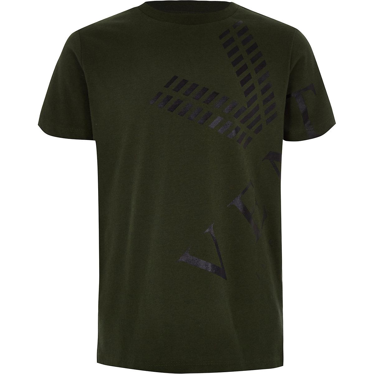 Boys khaki 'venti' T-shirt