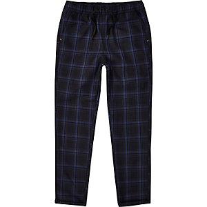 RI Studio - Marineblauwe geruite broek voor jongens