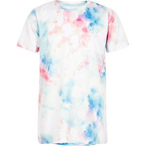 T-shirt en maille blanc pastel pour garçon